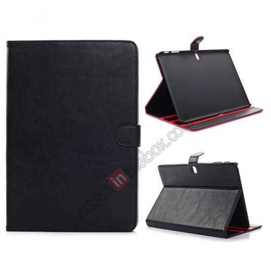 wholesale Fashion New Folio Leather Flip Protective Case For Samsung Galaxy Tab Pro 12.2 P900 - Black