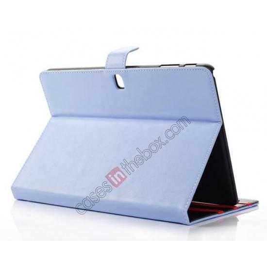 top quality Fashion New Folio Leather Flip Protective Case For Samsung Galaxy Tab Pro 12.2 P900 - Blue
