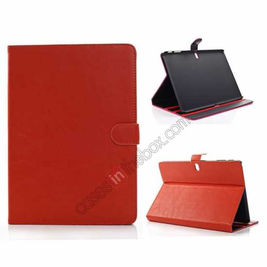 wholesale Fashion New Folio Leather Flip Protective Case For Samsung Galaxy Tab Pro 12.2 P900 - Orange