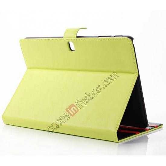 top quality Fashion New Folio Leather Flip Protective Case For Samsung Galaxy Tab Pro 12.2 P900 - Green