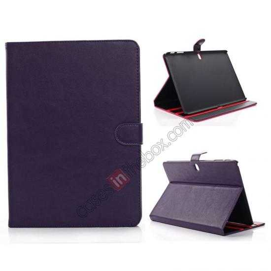 wholesale Fashion New Folio Leather Flip Protective Case For Samsung Galaxy Tab Pro 12.2 P900 - Purple