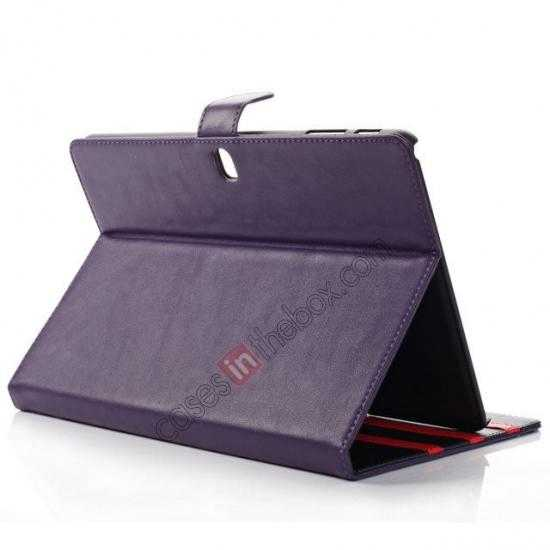 top quality Fashion New Folio Leather Flip Protective Case For Samsung Galaxy Tab Pro 12.2 P900 - Purple