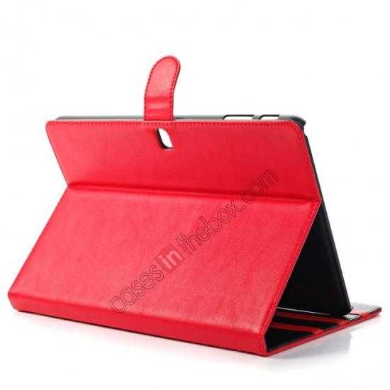 top quality Fashion New Folio Leather Flip Protective Case For Samsung Galaxy Tab Pro 12.2 P900 - Red