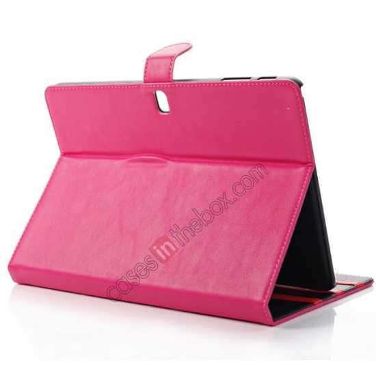 top quality Fashion New Folio Leather Flip Protective Case For Samsung Galaxy Tab Pro 12.2 P900 - Rose