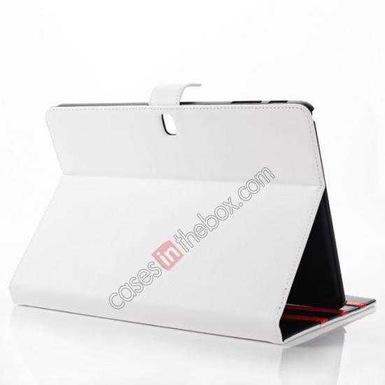 cheap Fashion New Folio Leather Flip Protective Case For Samsung Galaxy Tab Pro 12.2 P900 - White