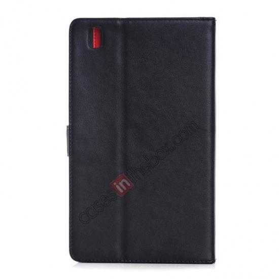 cheap Fashion New Leather Stand Case for Samsung Galaxy Tab Pro 8.4 T320 - Black