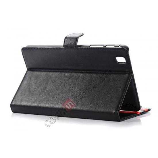 top quality Fashion New Leather Stand Case for Samsung Galaxy Tab Pro 8.4 T320 - Black