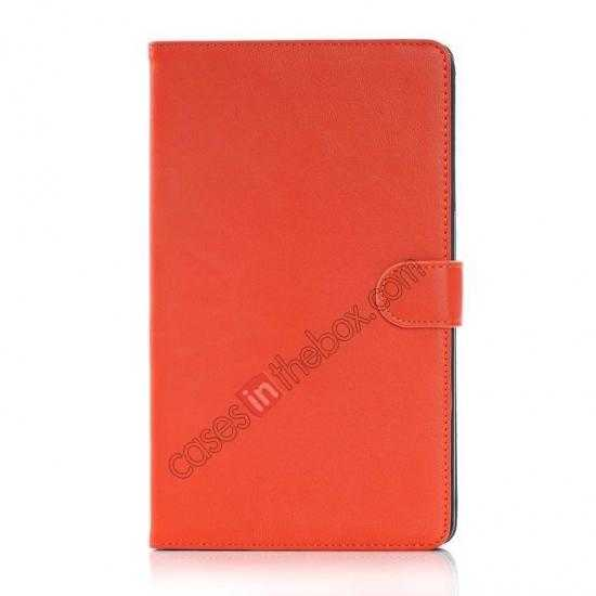 discount Fashion New Leather Stand Case for Samsung Galaxy Tab Pro 8.4 T320 - Orange