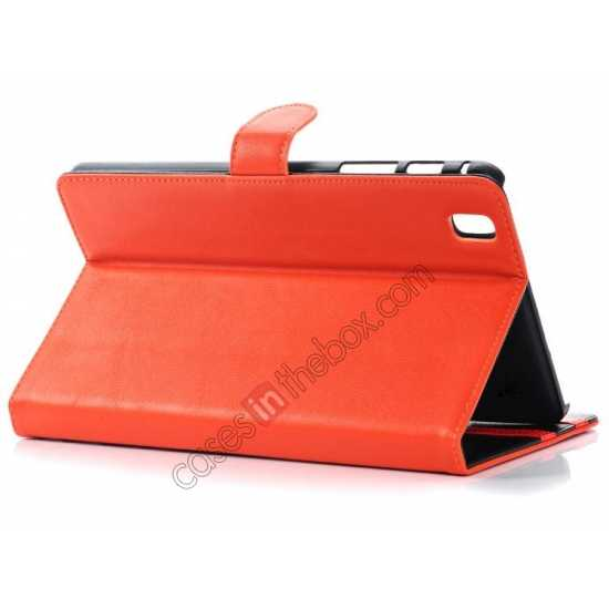 top quality Fashion New Leather Stand Case for Samsung Galaxy Tab Pro 8.4 T320 - Orange