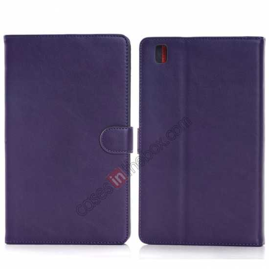wholesale Fashion New Leather Stand Case for Samsung Galaxy Tab Pro 8.4 T320 - Purple