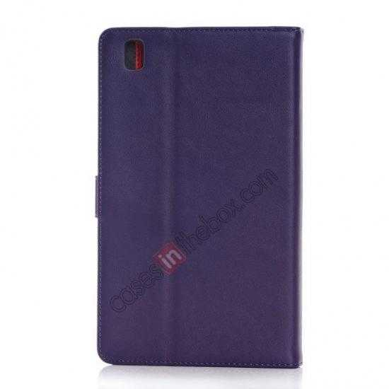 cheap Fashion New Leather Stand Case for Samsung Galaxy Tab Pro 8.4 T320 - Purple