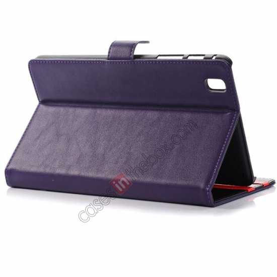 top quality Fashion New Leather Stand Case for Samsung Galaxy Tab Pro 8.4 T320 - Purple
