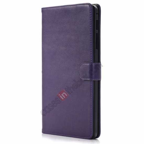 best price Fashion New Leather Stand Case for Samsung Galaxy Tab Pro 8.4 T320 - Purple