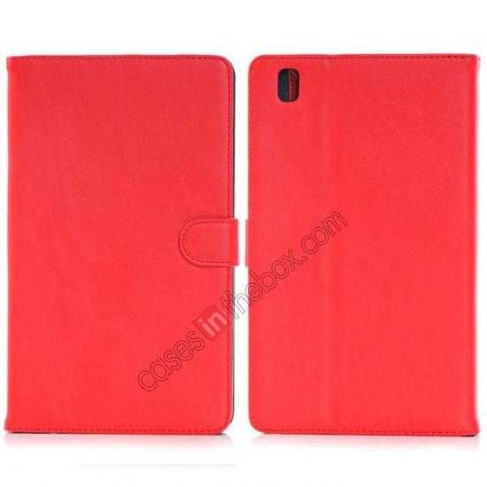 wholesale Fashion New Leather Stand Case for Samsung Galaxy Tab Pro 8.4 T320 - Red