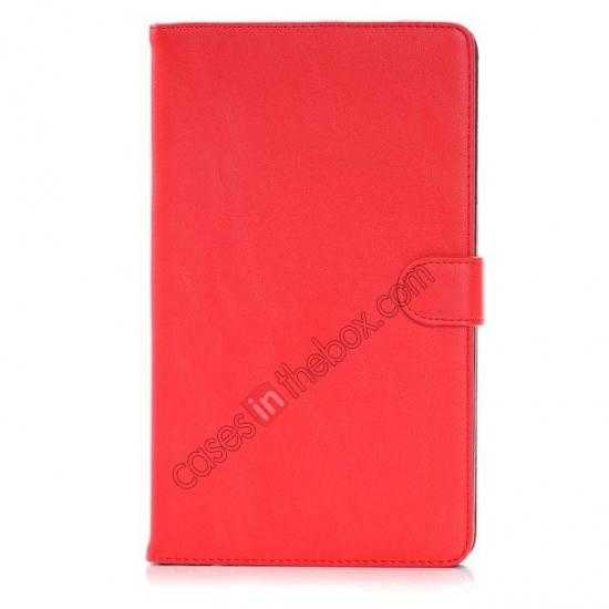 discount Fashion New Leather Stand Case for Samsung Galaxy Tab Pro 8.4 T320 - Red