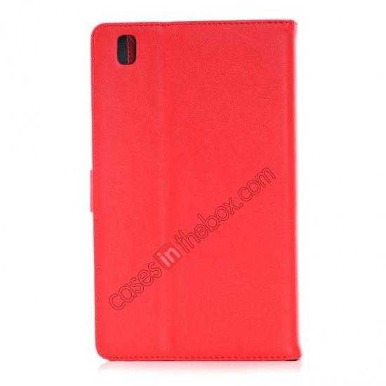 cheap Fashion New Leather Stand Case for Samsung Galaxy Tab Pro 8.4 T320 - Red