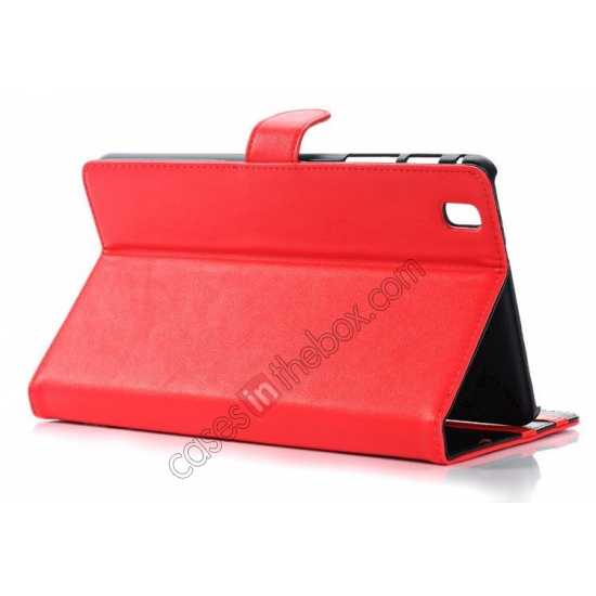 top quality Fashion New Leather Stand Case for Samsung Galaxy Tab Pro 8.4 T320 - Red