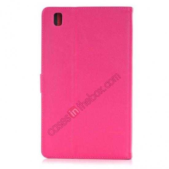 cheap Fashion New Leather Stand Case for Samsung Galaxy Tab Pro 8.4 T320 - Rose