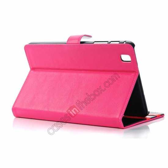 top quality Fashion New Leather Stand Case for Samsung Galaxy Tab Pro 8.4 T320 - Rose