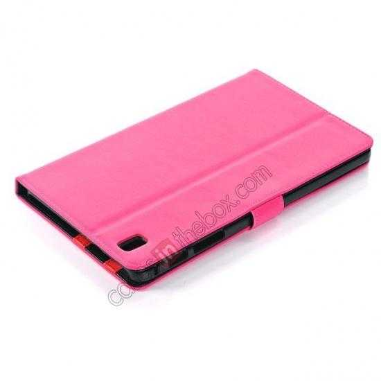 best price Fashion New Leather Stand Case for Samsung Galaxy Tab Pro 8.4 T320 - Rose