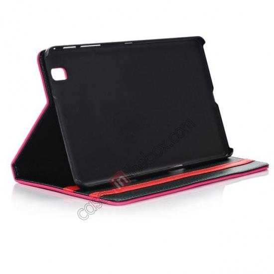 on sale Fashion New Leather Stand Case for Samsung Galaxy Tab Pro 8.4 T320 - Rose