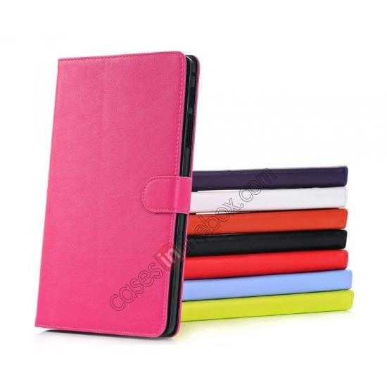 low price Fashion New Leather Stand Case for Samsung Galaxy Tab Pro 8.4 T320 - Rose