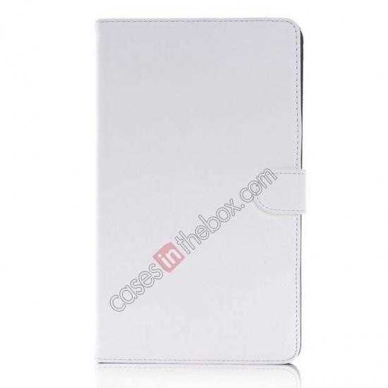 discount Fashion New Leather Stand Case for Samsung Galaxy Tab Pro 8.4 T320 - White