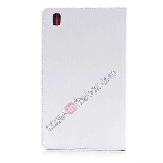 cheap Fashion New Leather Stand Case for Samsung Galaxy Tab Pro 8.4 T320 - White
