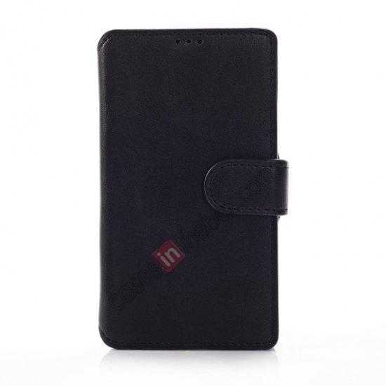 discount Fashion New Pu Leather Stand Case for Nokia X With Card Slots - Black