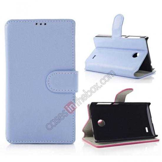 wholesale Fashion New Pu Leather Stand Case for Nokia X With Card Slots - Blue