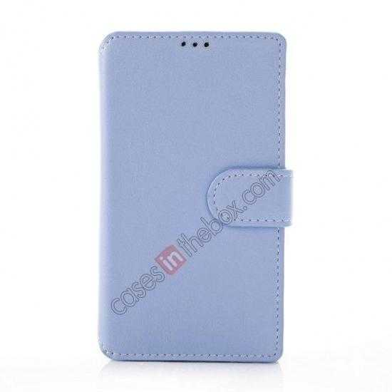 discount Fashion New Pu Leather Stand Case for Nokia X With Card Slots - Blue