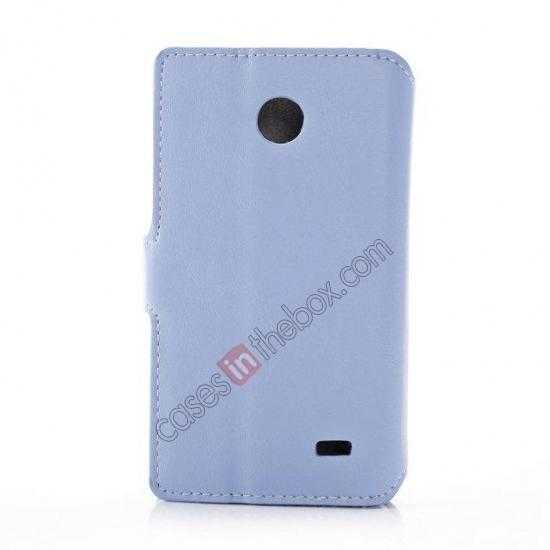 cheap Fashion New Pu Leather Stand Case for Nokia X With Card Slots - Blue