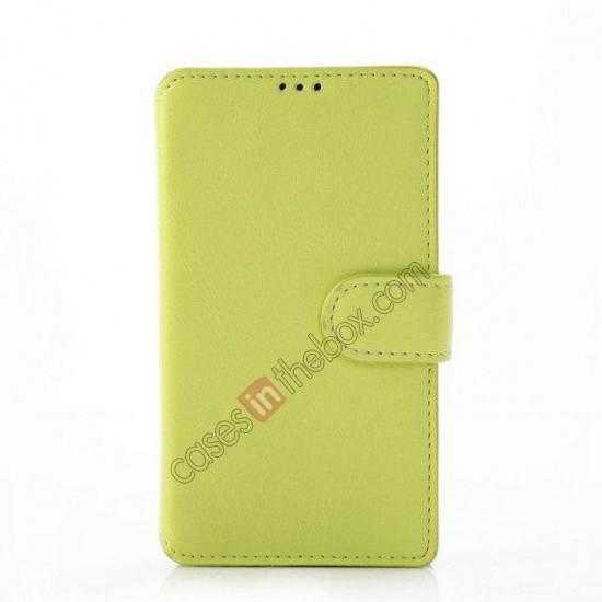 discount Fashion New Pu Leather Stand Case for Nokia X With Card Slots - Green