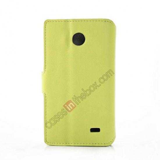 cheap Fashion New Pu Leather Stand Case for Nokia X With Card Slots - Green