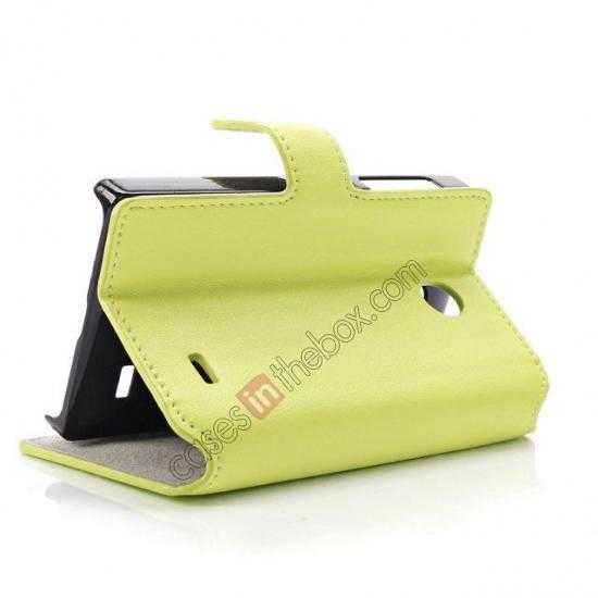 top quality Fashion New Pu Leather Stand Case for Nokia X With Card Slots - Green