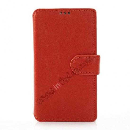 discount Fashion New Pu Leather Stand Case for Nokia X With Card Slots - Orange