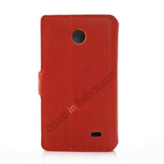 cheap Fashion New Pu Leather Stand Case for Nokia X With Card Slots - Orange