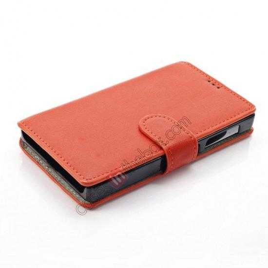 best price Fashion New Pu Leather Stand Case for Nokia X With Card Slots - Orange