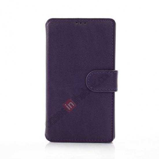 discount Fashion New Pu Leather Stand Case for Nokia X With Card Slots - Purple