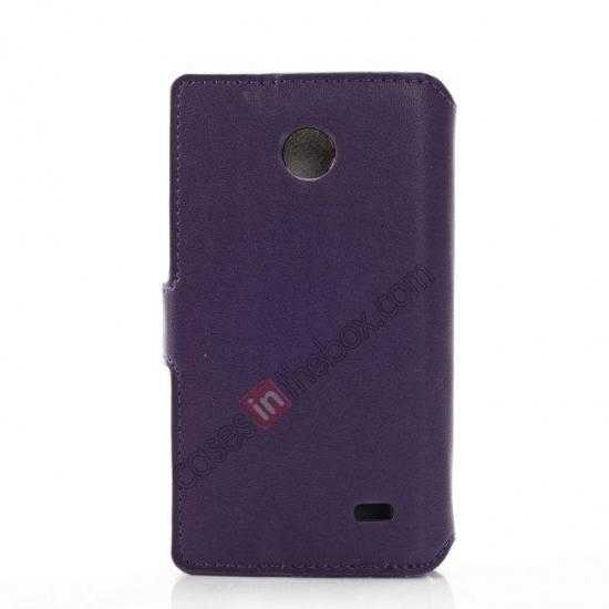 cheap Fashion New Pu Leather Stand Case for Nokia X With Card Slots - Purple