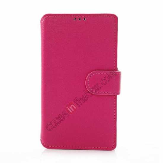 discount Fashion New Pu Leather Stand Case for Nokia X With Card Slots - Rose