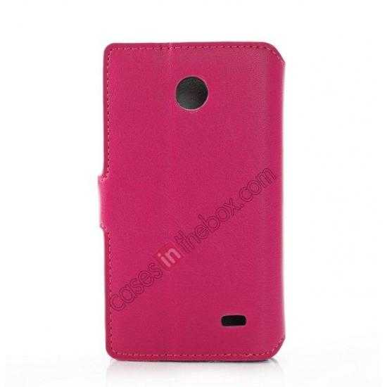 cheap Fashion New Pu Leather Stand Case for Nokia X With Card Slots - Rose