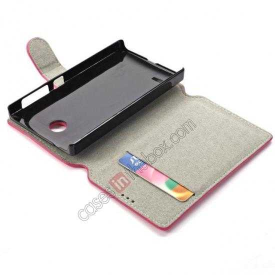 on sale Fashion New Pu Leather Stand Case for Nokia X With Card Slots - Rose