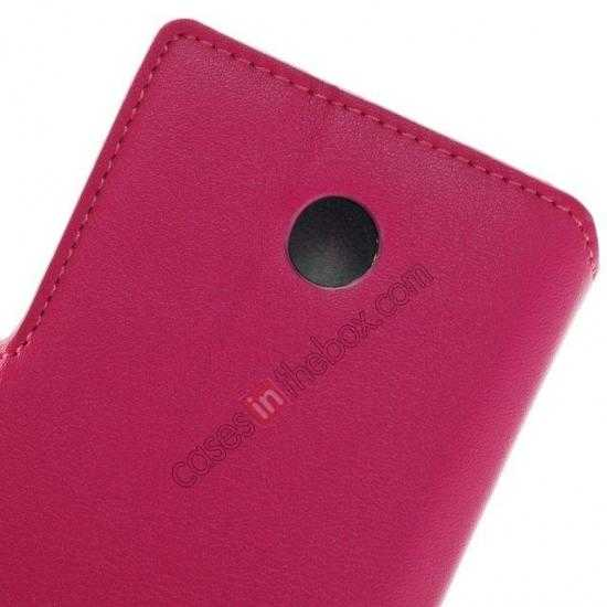 low price Fashion New Pu Leather Stand Case for Nokia X With Card Slots - Rose