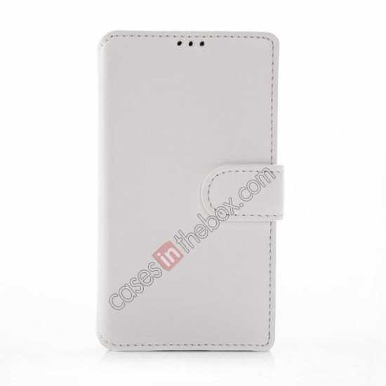discount Fashion New Pu Leather Stand Case for Nokia X With Card Slots - White