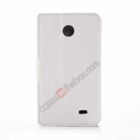 cheap Fashion New Pu Leather Stand Case for Nokia X With Card Slots - White