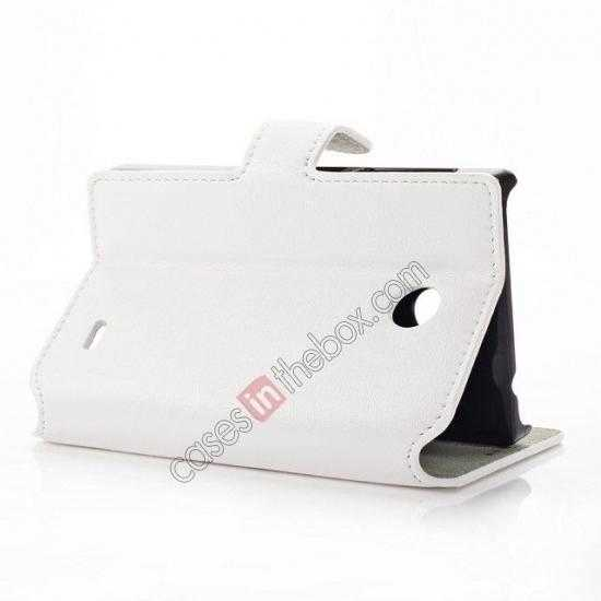 top quality Fashion New Pu Leather Stand Case for Nokia X With Card Slots - White