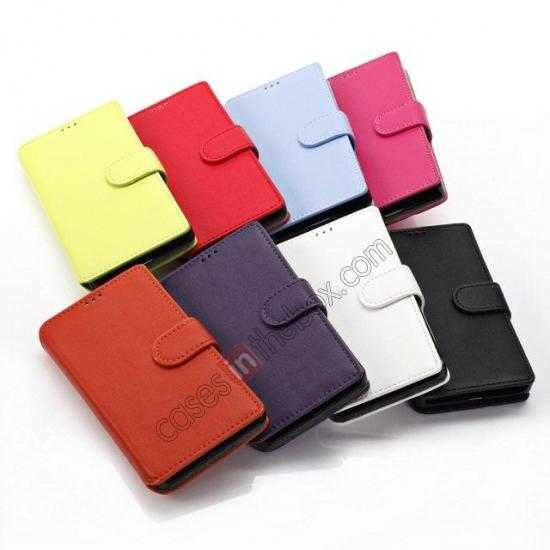 low price Fashion New Pu Leather Stand Case for Nokia X With Card Slots - White