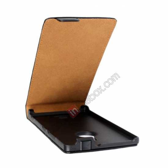 on sale Genuine leather Vertical Flip Case Cover For Nokia Lumia 925 - Black