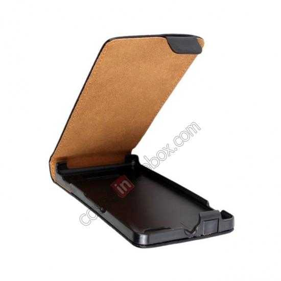 discount Genuine leather Vertical Flip Case Cover For Sony Xperia M - Black